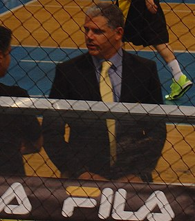 Sotiris Manolopoulos Greek basketball player and coach