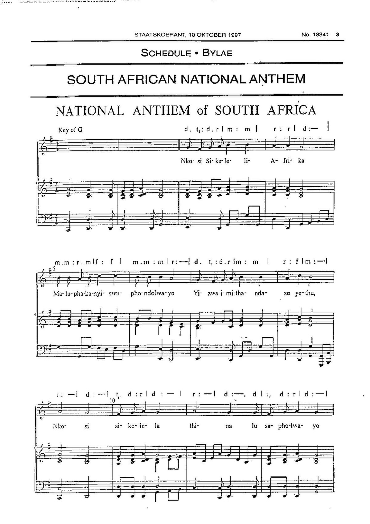 National Anthem Of South Africa Wikipedia