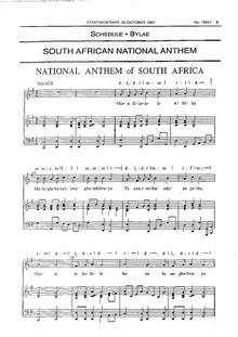 south african national anthem 1997 government gazette of south africapdf