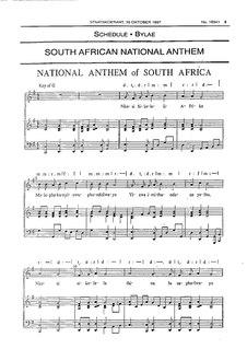 National anthem of South Africa national anthem