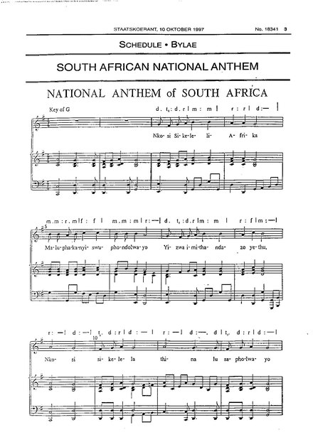 National anthem of South Africa - WikiMili, The Free