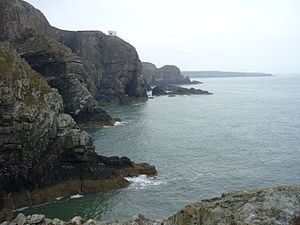South Stack - View along the rugged coastline from South Stack