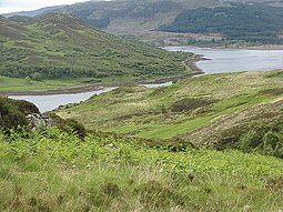 The southeast of Càrna looking towards Loch Teacuis and Morvern