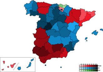Spain (European Parliament constituency) - Image: Spain Province Map European 2004