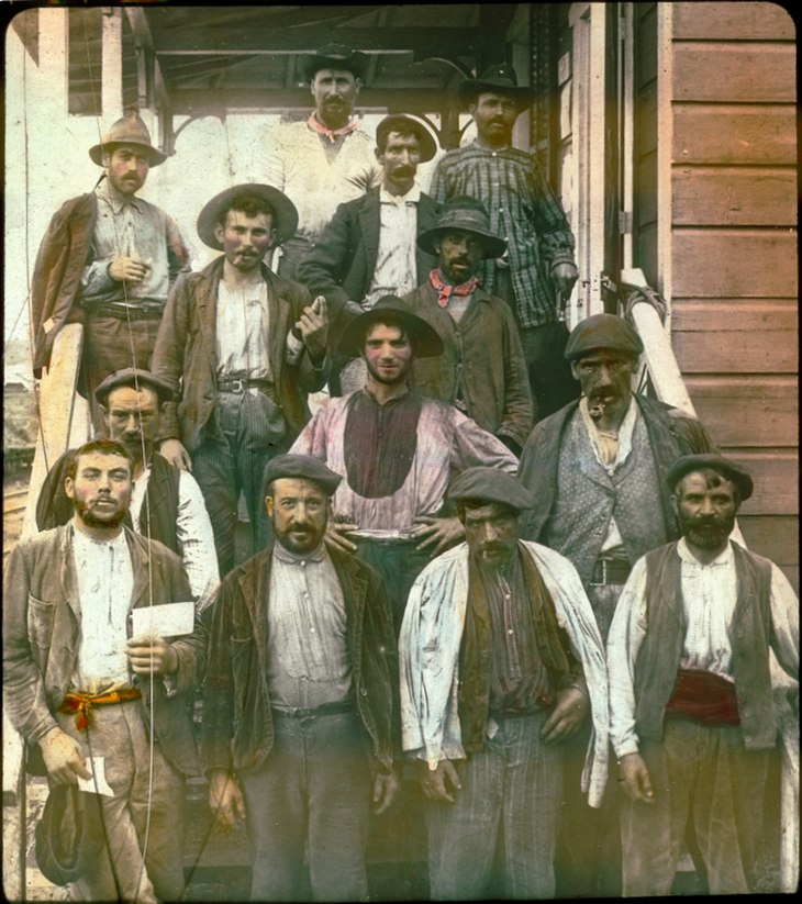 Spanish laborers on Panama Canal in early 1900s