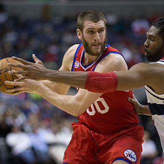 Spencer Hawes - Hawes with the 76ers in 2013
