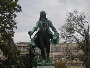 Statuo de Obradović en Beograda parko