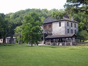 Spring Mill State Park - Image: Spring Mill Gristmill