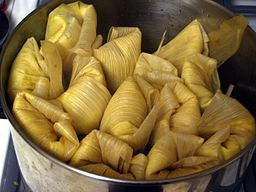 Squash, Black Bean, Goat Cheese Tamales (phil g)