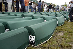 Srebrenica massacre - Burial of 610 identified Bosniaks in 2005
