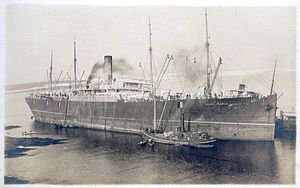 SS Mount Temple - SS mount temple aground at West Ironbound Island, Nova Scotia