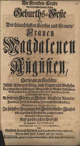 Gottfried Heinrich Stolzel Wikipedia