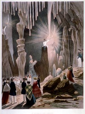 St. Michael's Cave - 19th-century painting of St. Michael's Cave by Thomas Colman Dibdin.