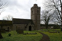 St Calwaladr's Church, Bishton - geograph.org.uk - 148343.jpg