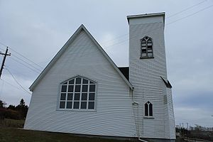 Arichat, Nova Scotia - St John's Anglican Church, the second building, completed in 1895 and designed by William Harris.