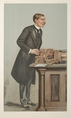 "St John Brodrick, 1st Earl of Midleton - ""War"". Caricature by Spy published in Vanity Fair in 1901."