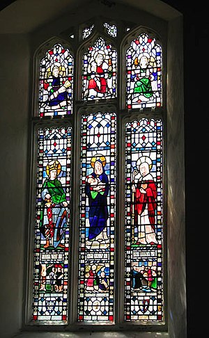 The Glass House, Fulham - Image: St Mary's church nave south window geograph.org.uk 1384505