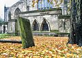 St Mary's parish churchyard - Chesterfield - Derbyshire.jpg