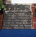 St Mary & St Radegund, Postling, Kent - Ledger slab (geograph 2069629).jpg