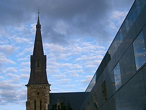 St Patrick's Cathedral, Parramatta - Spire and section of 2003 additions