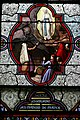 Stained glass window of St. Bernadette de Soubirous - Basilica of the Immaculate Conception - Lourdes 2014 (2).JPG