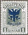 Stamp of Albania - 1920 - Colnect 337766 - Unissued portrait of Prince zu Wied overprinted in blue.jpeg