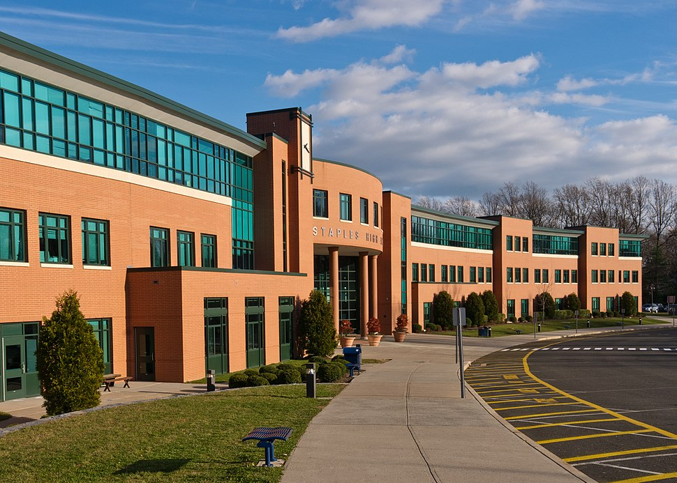 View of Staples High School, December 2011