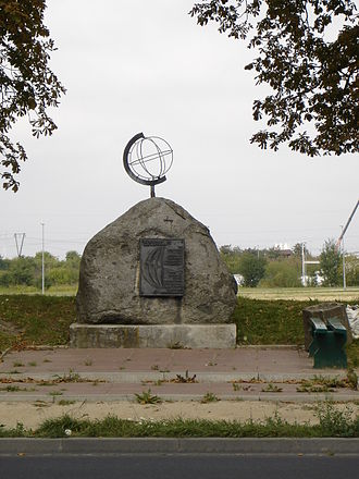 15th meridian east - Monument marking the meridian in Stargard, Poland