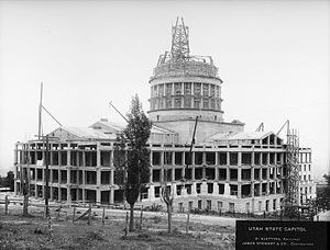 Utah State Capitol - The building as seen May 16, 1914