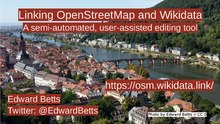 State of the Map 2019 - Linking OpenStreetMap and Wikidata.pdf