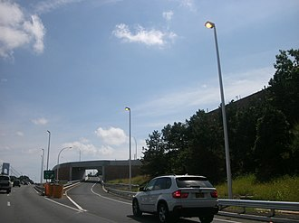 Interstate 278 - The brand-new exit 15 on the Staten Island Expressway eastbound that opened on July 9, 2012