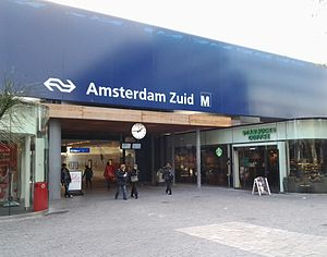 Amsterdam Zuid station - Zuidplein entrance (April 2012).