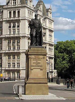 Statue of the Duke of Devonshire, Whitehall - The statue in 2011
