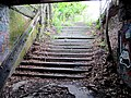 Steps to old Riverside station from tunnel, May 2012.JPG