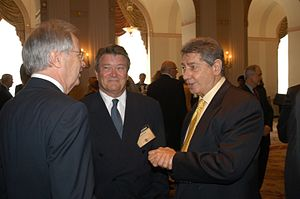 Jac Venza - Steve Kroft and Jac Venza in May 2004