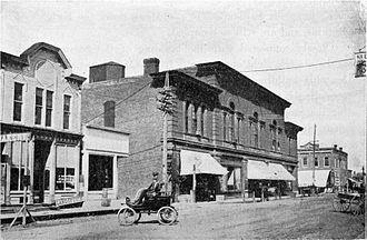 Spirit Lake, Iowa - Stevens Block in Spirit Lake, 1902
