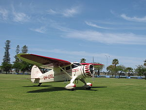 Stinson SR-8C Reliant at the SAAA Langley Park Fly-in October 2011.jpg