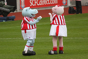 Mascots of association football club Stoke Cit...