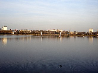 Stoke Newington - The West reservoir, looking north.