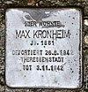 Stolperstein Bölschestr 46 (Frihg) Max Kronheim.jpg