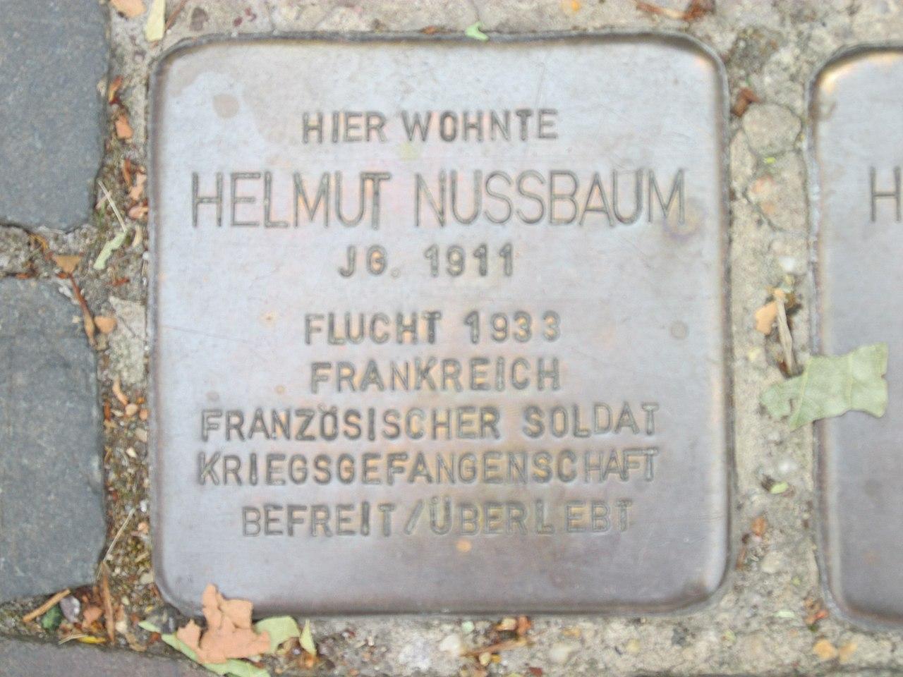 Stolperstein Helmut Nussbaum, 1, Burgstraße 40, Bitterfeld, Bitterfeld-Wolfen, Landkreis Anhalt-Bitterfeld.jpg