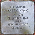 Stolperstein Karlsruhe Baer Betty.jpeg