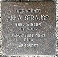 Stolperstein Lüdinghausen Olfener Straße 10 Anna Strauss.jpg