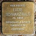 Stolperstein Motzstr 30 (Schön) Lucie Schwarzwald.jpg