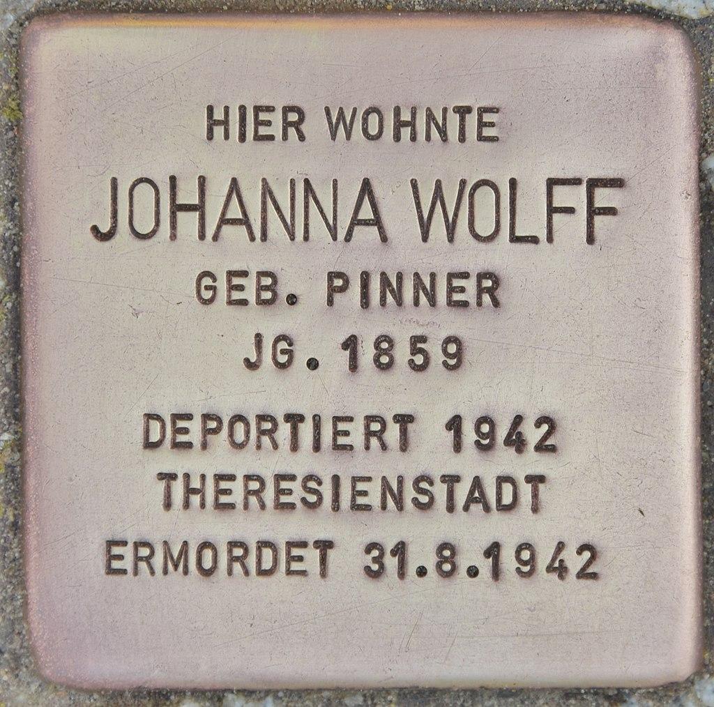 Stolperstein für Johanna Wolff (Lübben).jpg