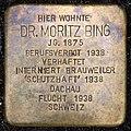 Stolpersteine Köln, Dr. Moritz Bing (Oberländer Ufer 208).jpg