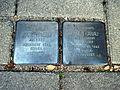 Stolpersteine Karl Hanau, Anna Hanau, Bonn, Wilhelm-Levison-Straße 1a.JPG