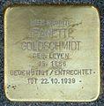 Stolpersteine Krefeld, Jeanette Goldschmidt (Niederstraße 38).jpg