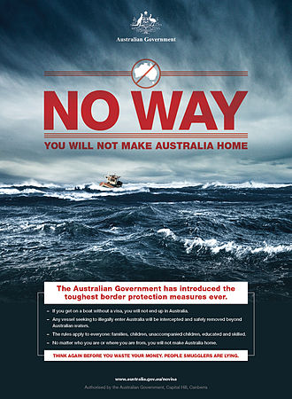 Operation Sovereign Borders - An example of an advertisement in the campaign.
