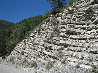 Barremian - Barremian sedimentary rock layers, France